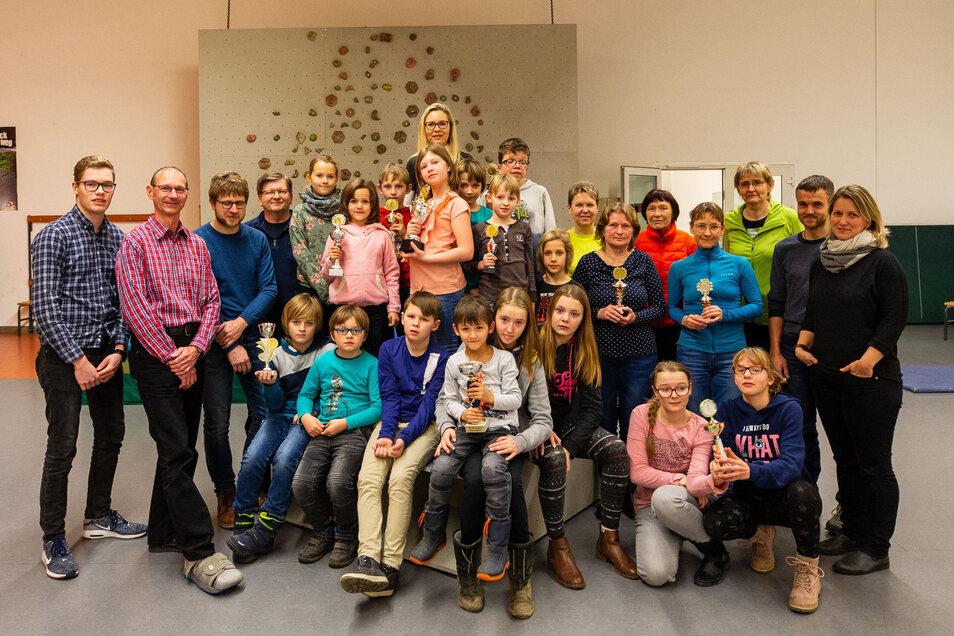 Siegerehrung der Jubiläumssaison: Seit 40 Jahren gibt es die Serie Kreisrangliste Sächsische Schweiz.