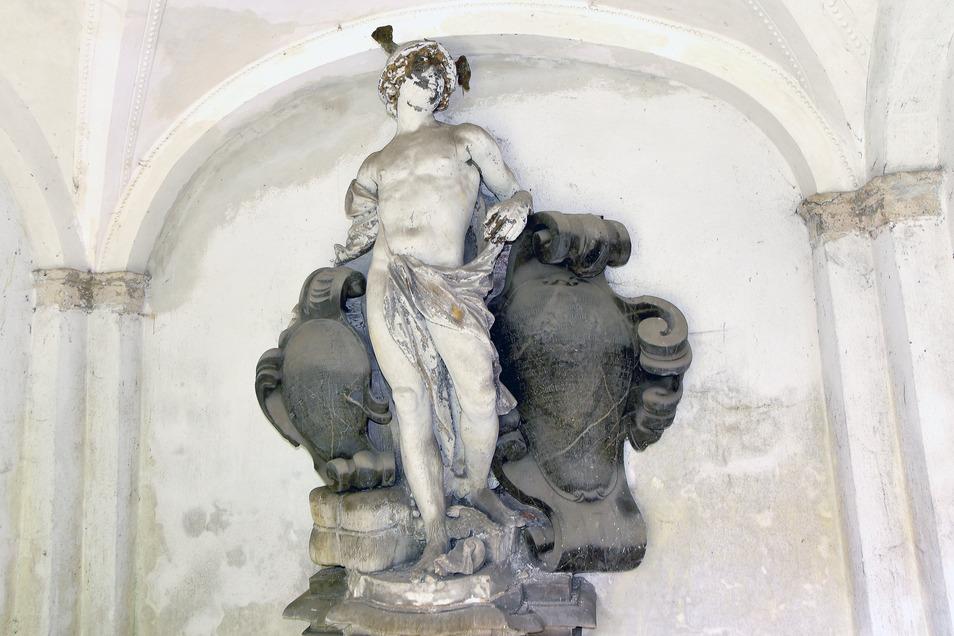 Die Hermes-Figur im Grufthaus Besser im Zittauer Klosterhof.
