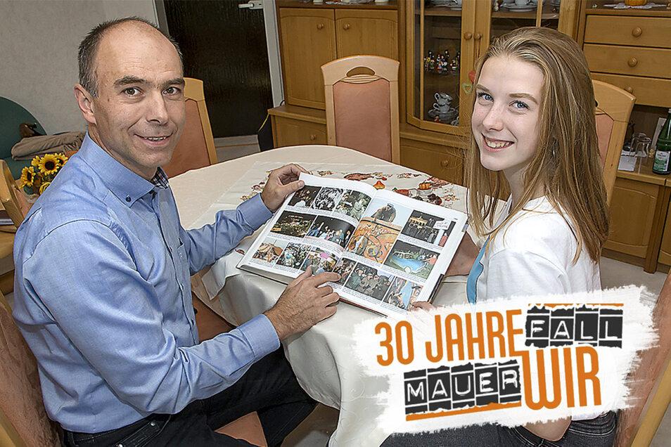 """""""Man hat hier gelebt und hat das Beste draus gemacht"""", sagt der Lauensteiner Tino Wolf, 51, über seine Jahre in der DDR. Neulich erzählte er seiner fünfzehnjährigen Tochter Laura vom Alltag jenes Landes, das sie nie kennenlernte."""