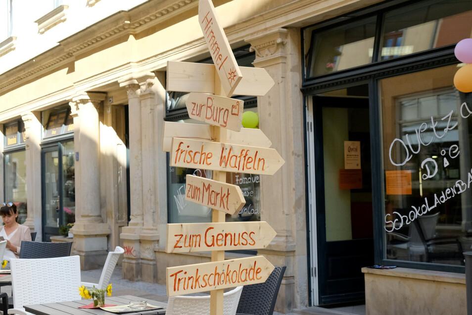 """Ein Ergebnis des Gründerwettbewerbs ist unter anderem die Schokoladenbar """"Quetzal"""", die Peter Mattis in der Burgstraße eröffnet hat."""