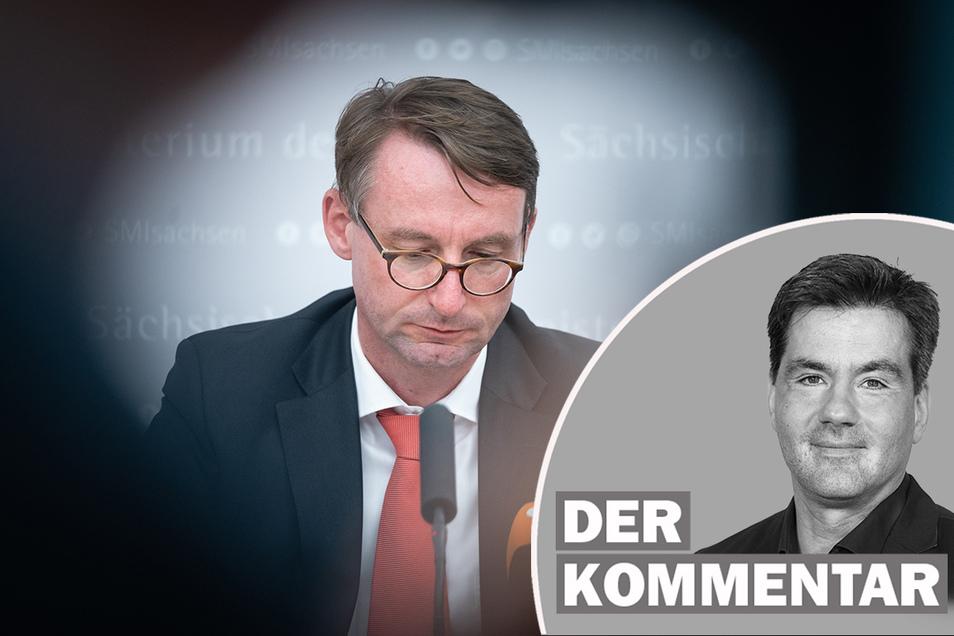 Innenminister Roland Wöller sieht den Rechtsextremismus in Sachsen wegen der hohen Anhängerzahl von rund 3.400 als größte Gefahr.