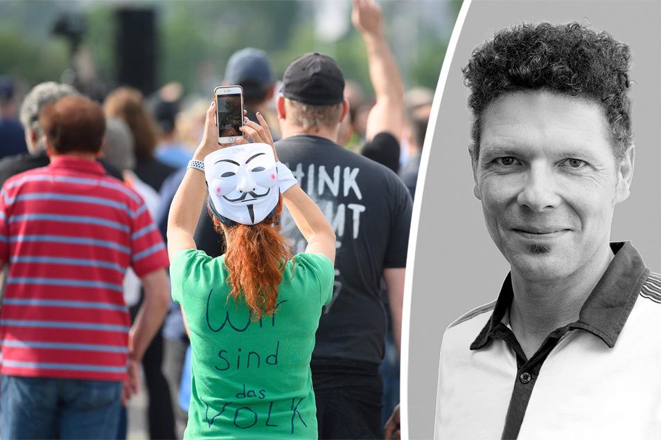 Feuilleton-Redakteur Oliver Reinhard kommentiert die Proteste gegen die Corona-Maßnahmen.