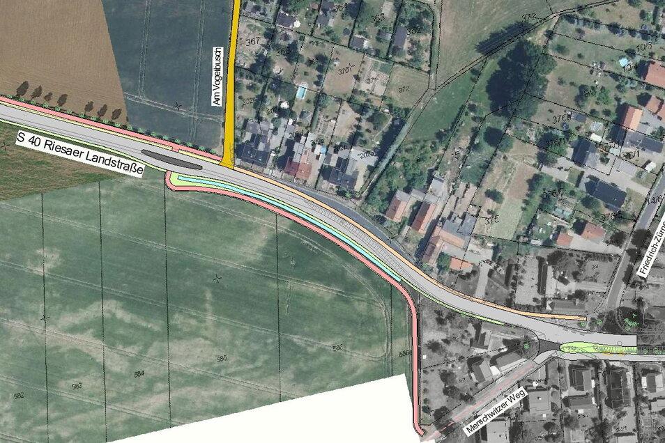 So könnte der Radweg im westlichen Teil Skassas verlaufen.