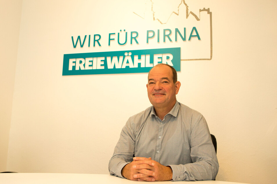 Der Chef der Pirnaer Freien Wähler, Ralf Böhmer.
