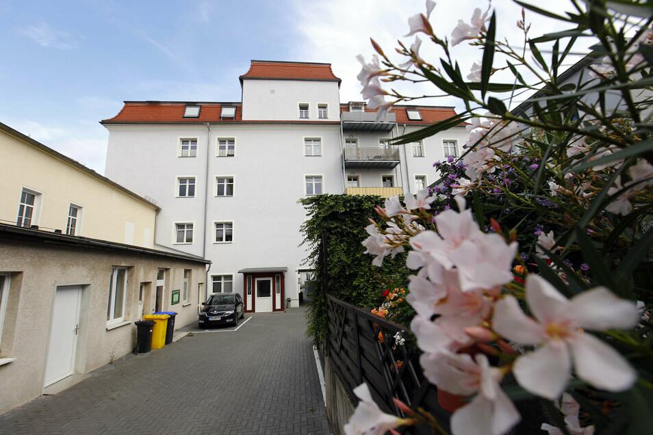Aus der früheren Berufsschule auf der Goethestraße ist eine Wohnanlage geworden.