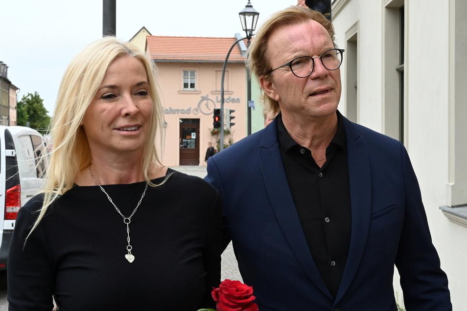 Wolfgang Lippert kam mit Ehefrau Gesine zur Trauerfeier.