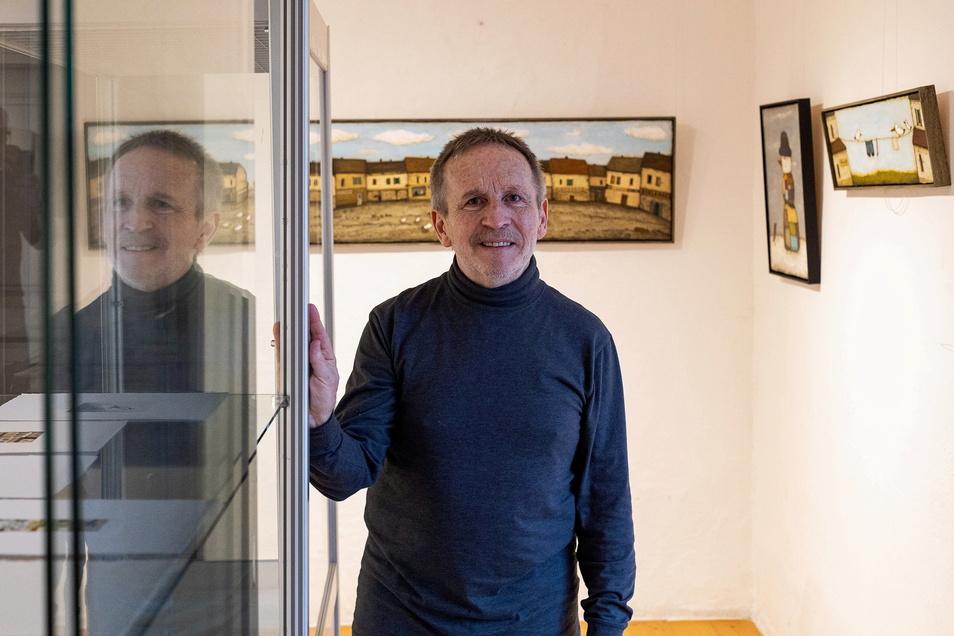 Holger Koch spricht am Sonnabend auch selbst über seine Bilder.