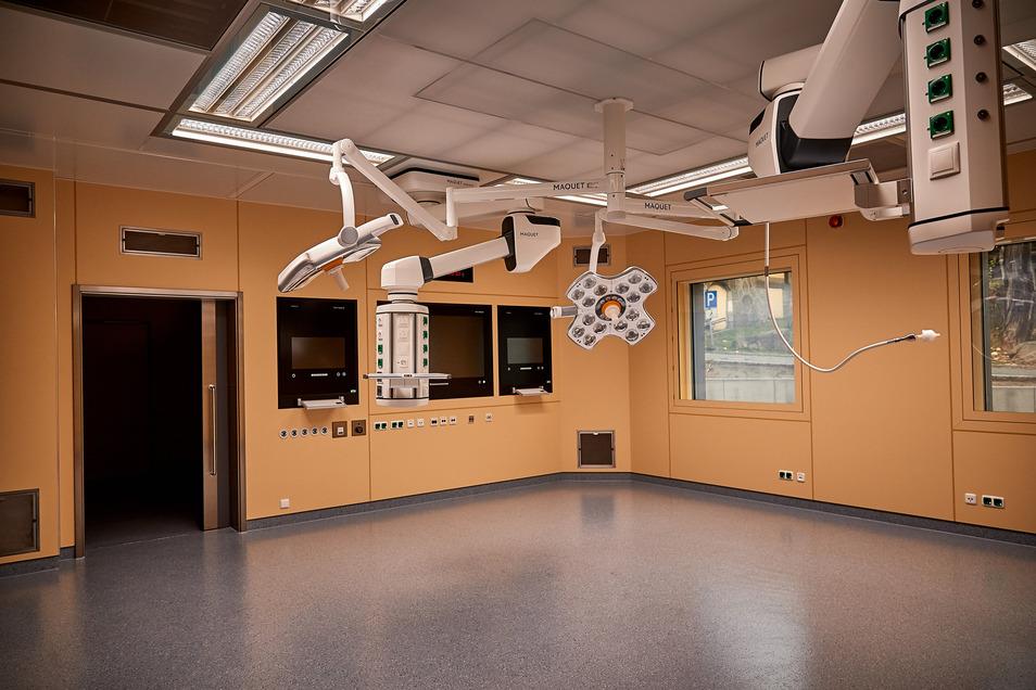 Blick in einen der neuen Operationssäle der AKG Klinik Hohwald GmbH vor der Inbetriebnahme: Mehr Operationen sollen die Rentabilität erhöhen.