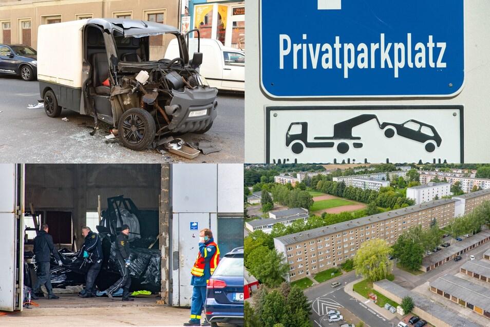 Rückblick: Schwerer Unfall, Parkplatz-Schreit, Durchsuchung, Moderner Wohnraum