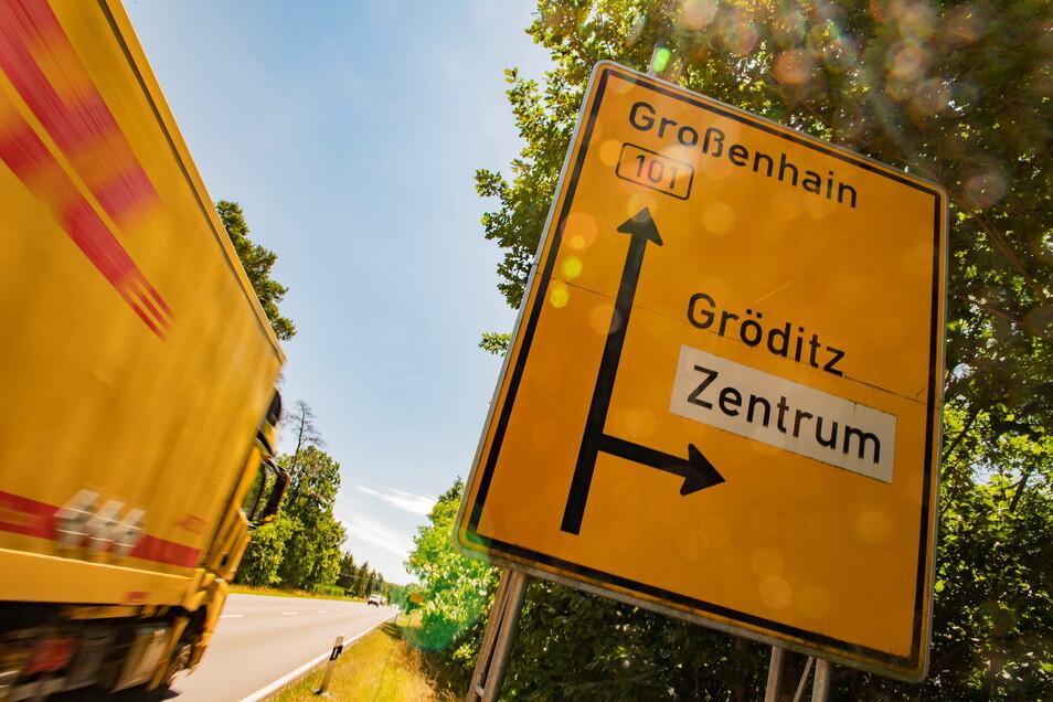 An die B 101 in Frauenhain soll künftig ein ganz neuer stationärer Blitzer hinkommen.