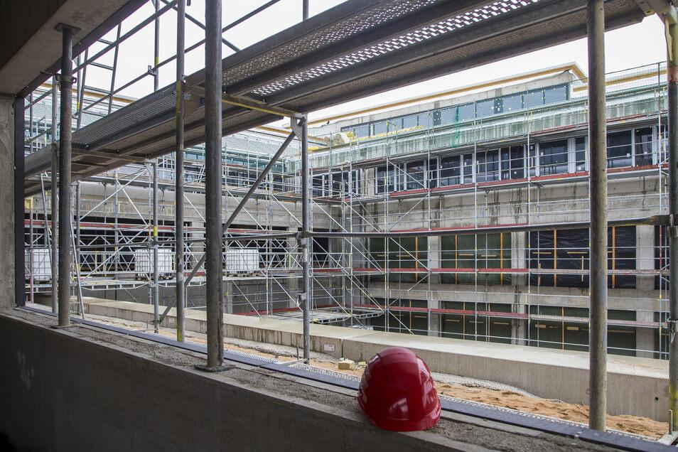 Im März sah es im neuen Gymnasium Wilsdruff noch so aus.