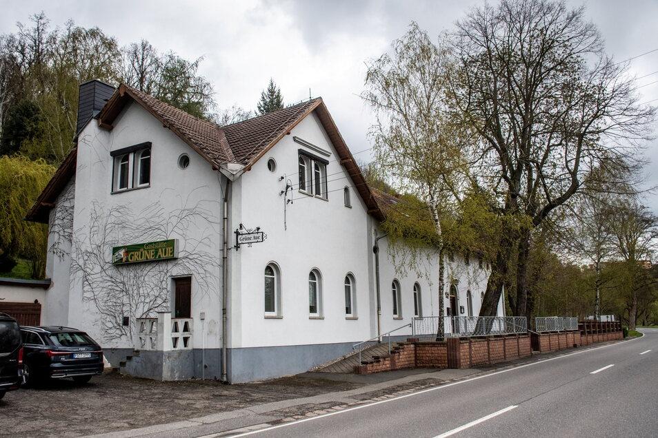 """Die """"Grüne Aue"""" ist für den neuen Besitzer das Willkommenstor von Roßwein."""