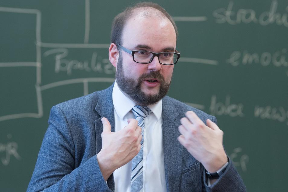 Kultusminister Christian Piwarz (CDU) stellte die Zahlen zum Schuljahresbeginn 2019/20 vor.