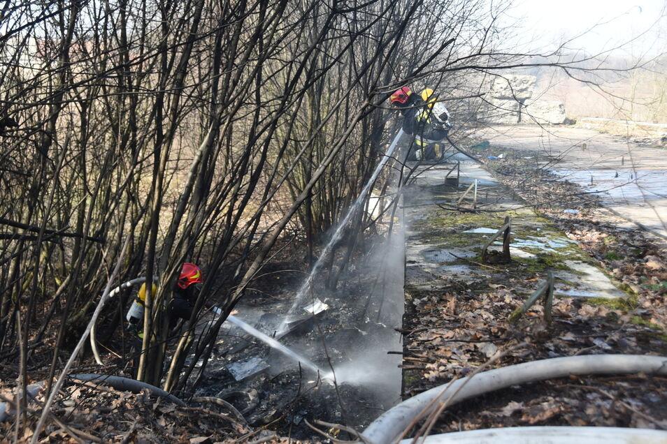 Der Kameraden der Feuerwehr aus dem Kraftwerk Turów kamen zum Einsatz.
