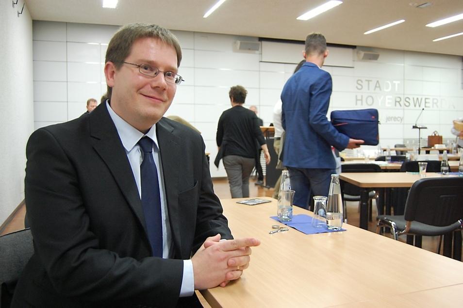 Der künftige VGH-Chef Stefan Löwe ist aktuell in Dresden tätig. Am Dienstag hat er sich im Stadtrat vorgestellt. Im März fängt er in Hoyerswerda an.
