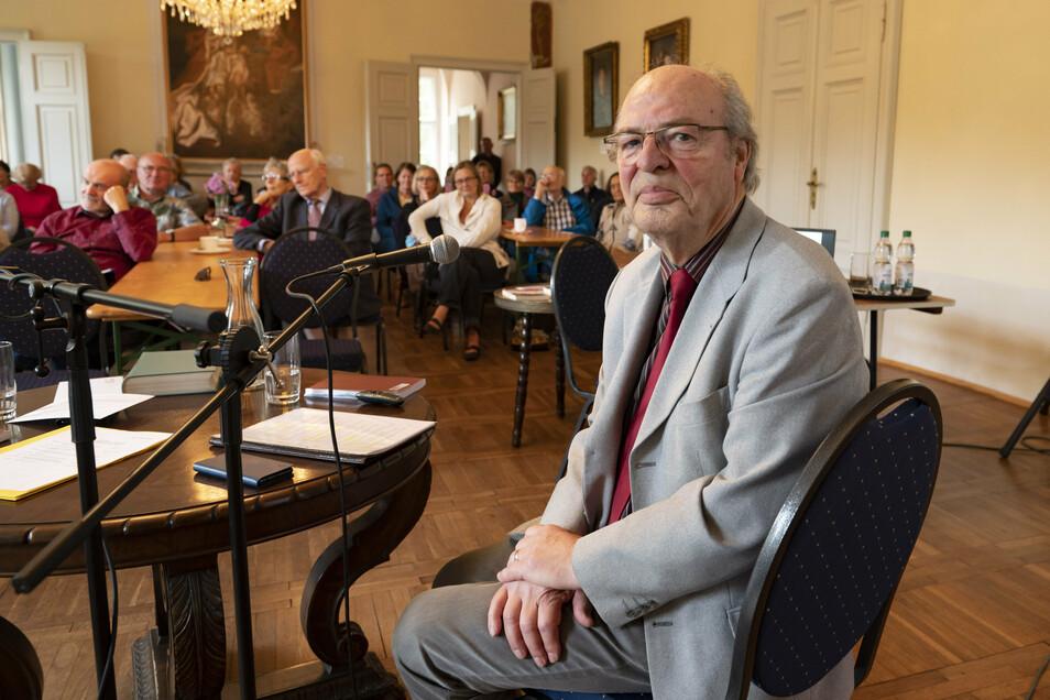 Kamingespräch mit Dr. Harald Jancke in Lauterbach: Er erzählte über seine Kindheit an der Wolga.