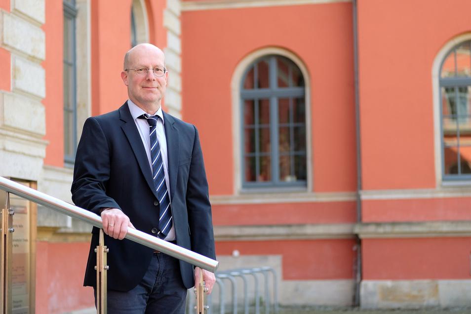 Gilt als streng, aber gerecht: Richter Andreas Poth verlässt nach 14 Jahren das Amtsgericht Meißen.