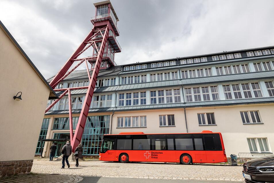 Nur noch wenige nutzen derzeit das Impfbus-Angebot in Altenberg.