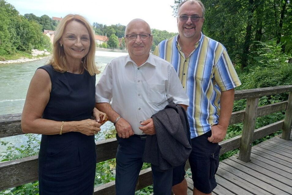 Besuch in der Partnerstadt Landsberg/Lech: Bürgermeister Steffen Ernst (Mitte) hat sich unter anderem mit Landsbergs Oberbürgermeisterin Doris Baumgartl und Stadtrat Harry Reitmeir getroffen.