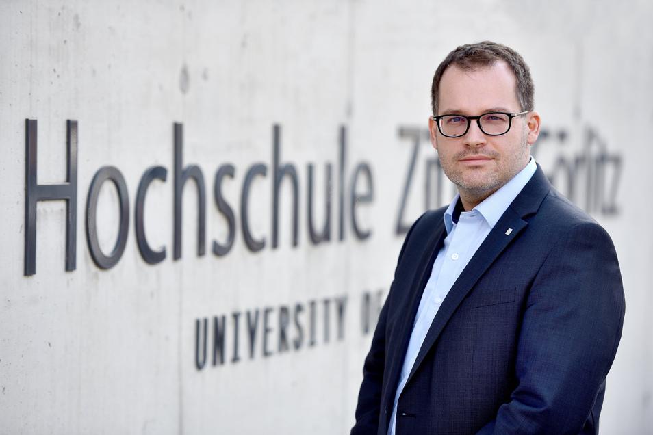 Prof. Dr. Alexander Kratzsch ist der neue Rektor der Hochschule Zittau/Görlitz. Der 40-Jährige hat hier schon studiert.