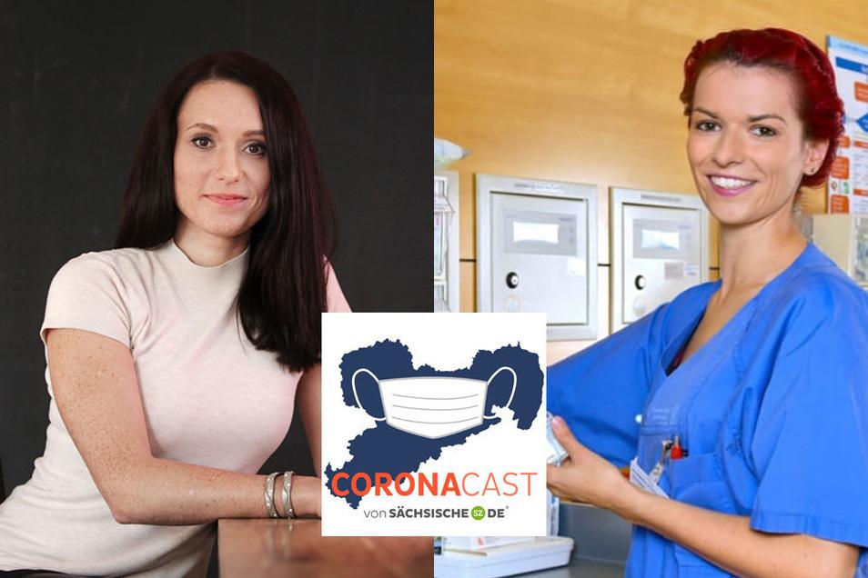 Romina Stawowy (links) wird durch eine Instragram-Story von Krankenschwester Sarah Küttner (rechts) auf ein Problem aufmerksam: Es gibt zu wenig Masken für medizinisches Personal.