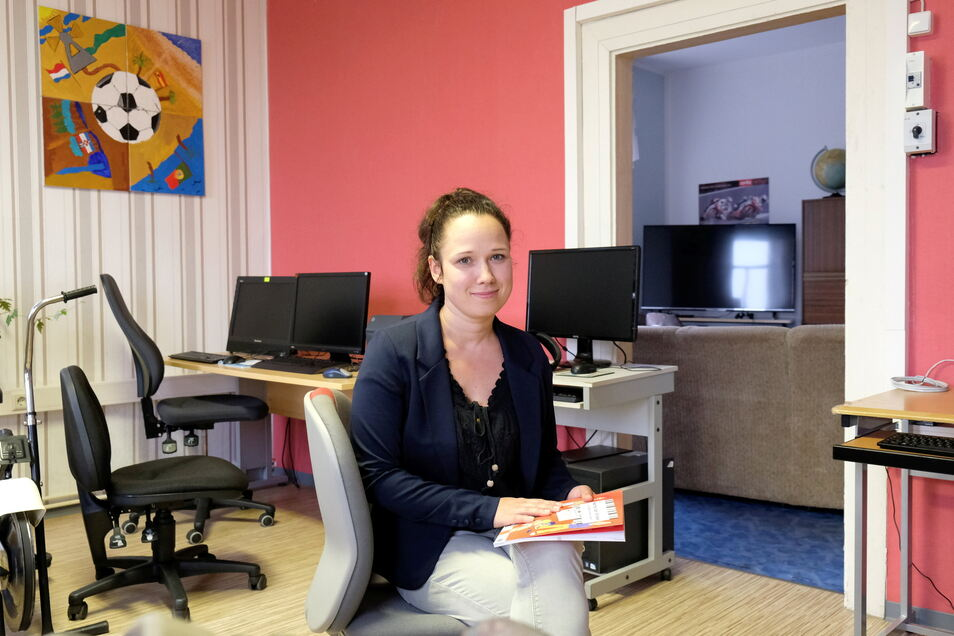Silke Werthschitz kommt regelmäßig in das Kinderhaus in Nossen. Vor allem kümmert sie sich aber um die Jugendklubs in der Kommune.