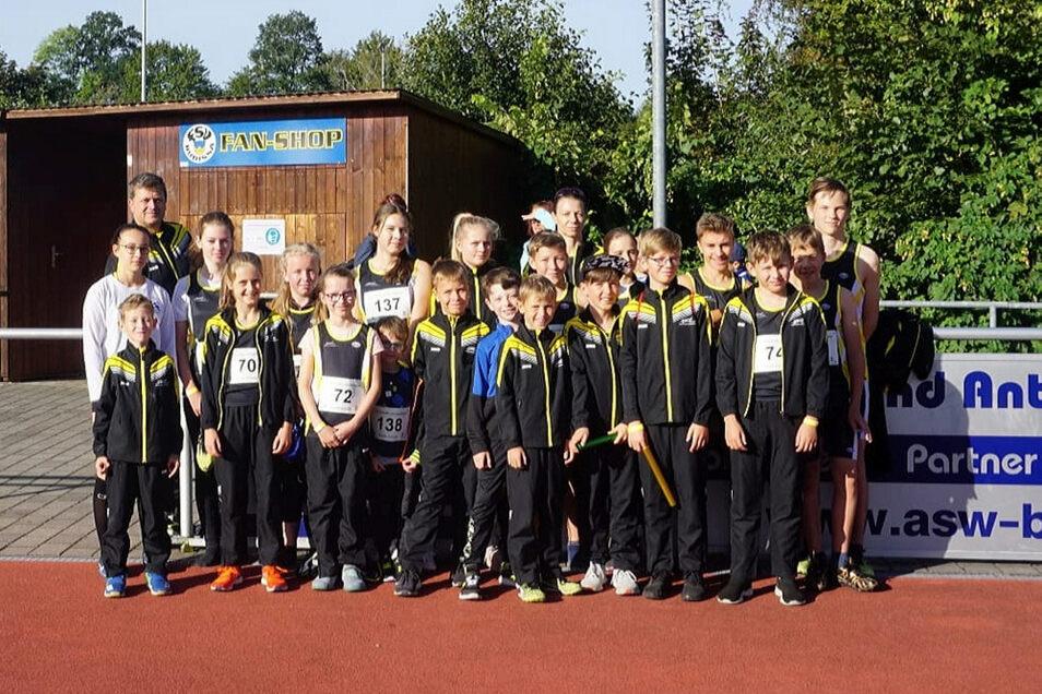 Mit einem 22-köpfigen Aufgebot holten die Nachwuchs-Leichtathleten des SC Hoyerswerda bei den Kreis- Kinder- und Jugendspielen 48 Medaillen.