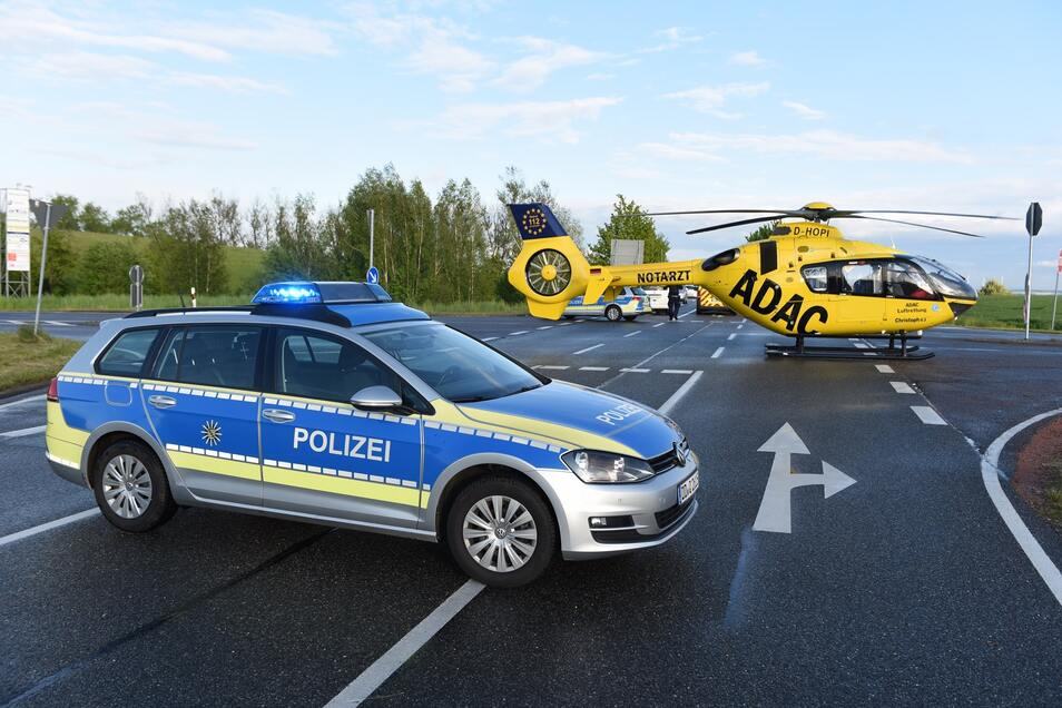 Die S36 am Abzweig nach Aschershain war für mehr als eine Stunde voll gesperrt.