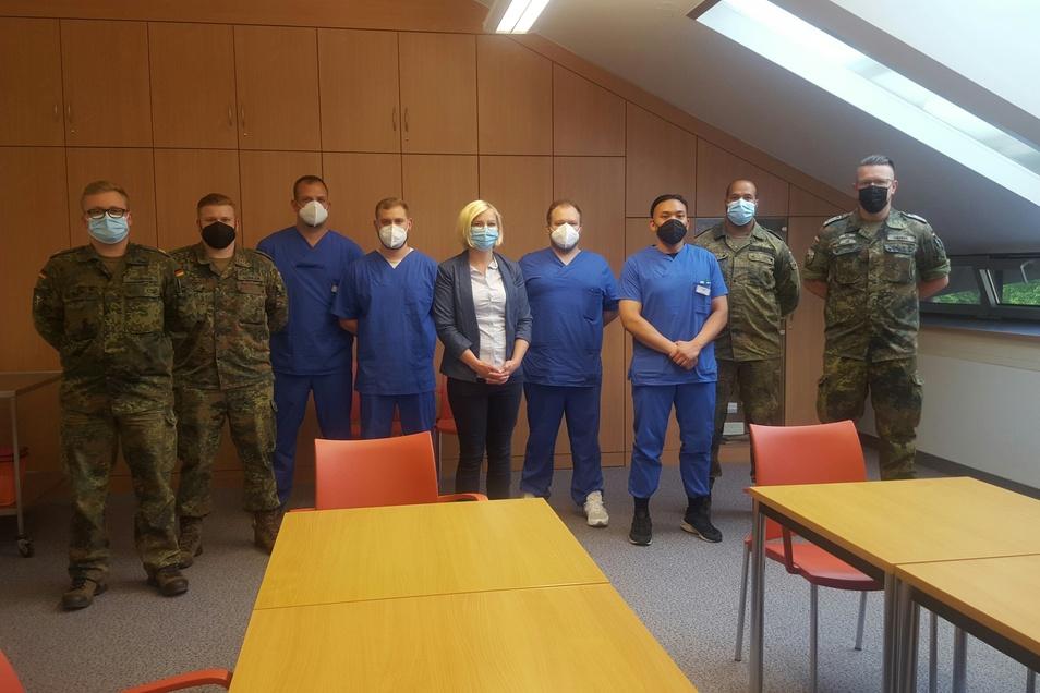 Die letzten Bundeswehr-Soldaten hat Pflegedirektorin Andrea Zelyk vergangenen Freitag verabschiedet.