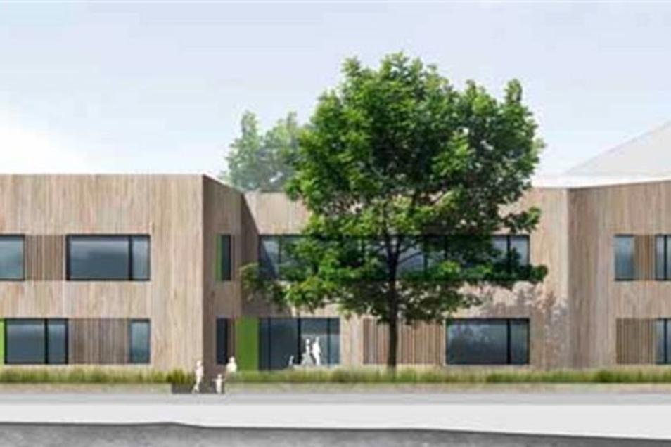 Beim Wettbewerb um den Neubau des Schillerhorts hat dieser Entwurf gewonnen.