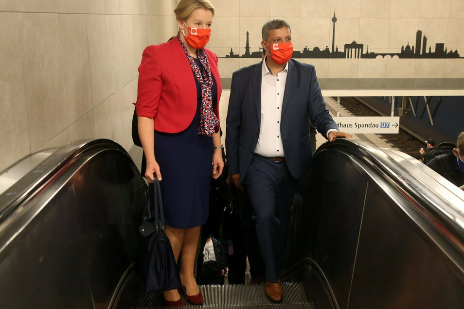 Raed Saleh und Franziska Giffey sind die neuen Vorsitzenden der SPD in Berlin.