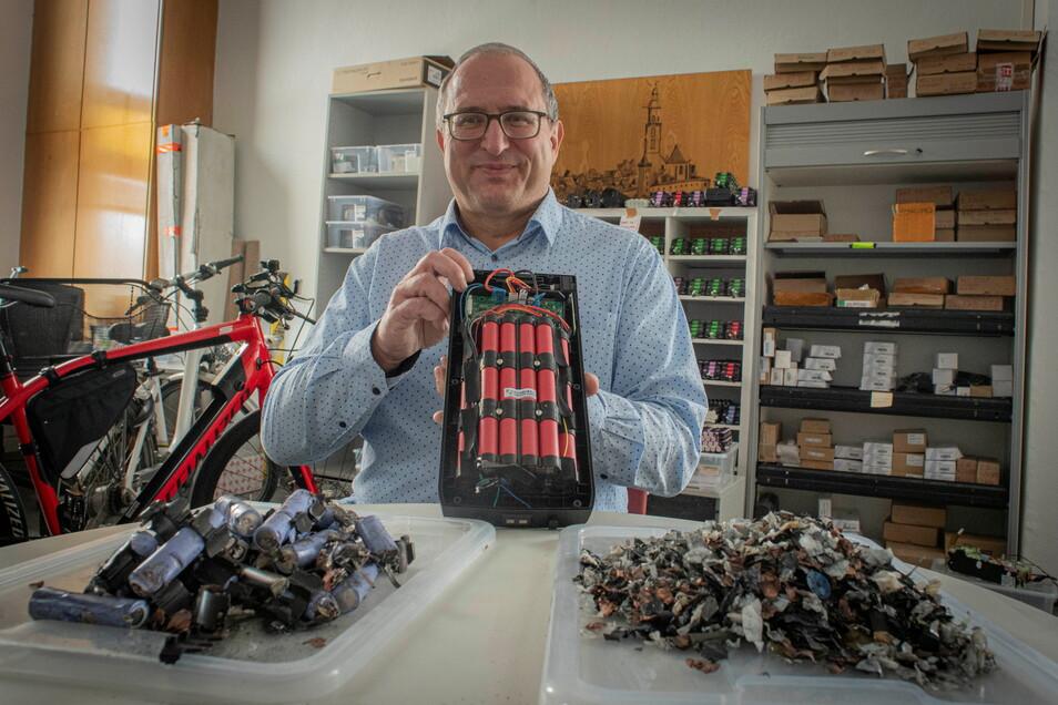 Ralph Günther führt in Kamenz das Unternehmen Liofit. Jetzt erhält es Fördermittel aus einem EU-Batterie-Projekt.