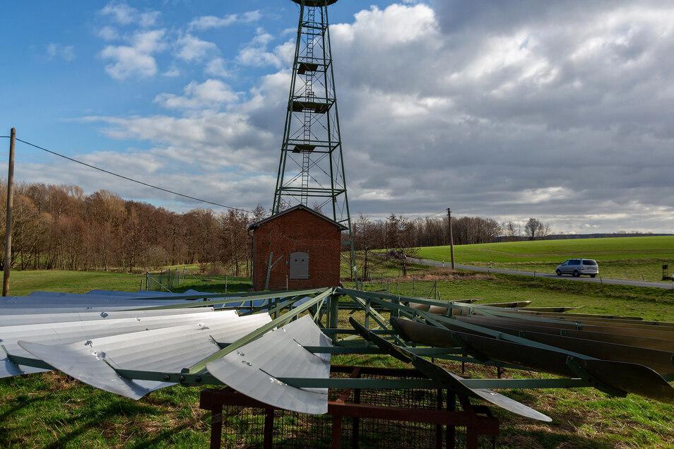 Das historische Windrad von Grumbach soll sich bald wieder drehen.