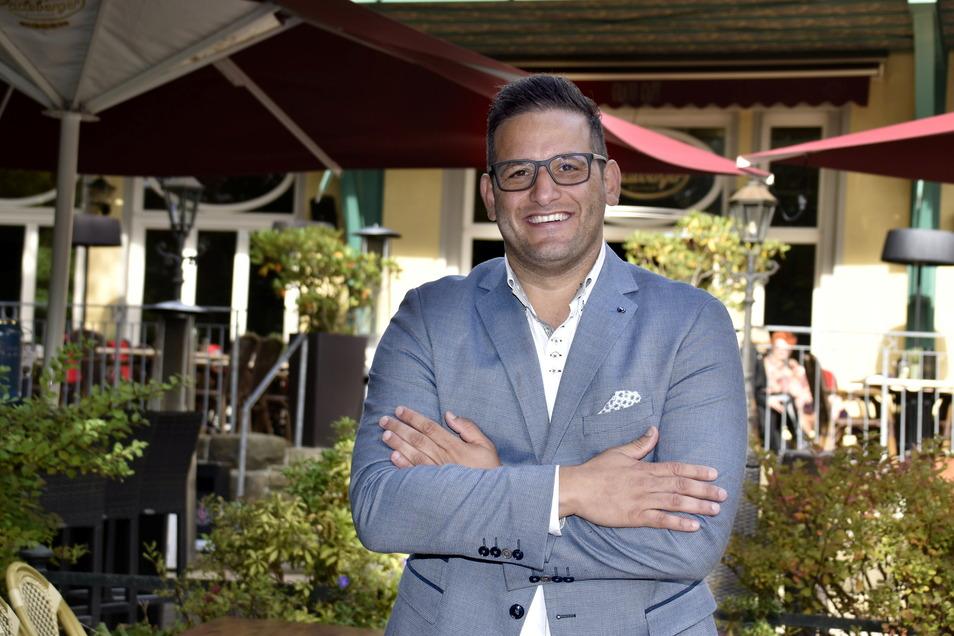 Moyd Karrum ist Geschäftsführer des Dresdner Carolaschlösschens.
