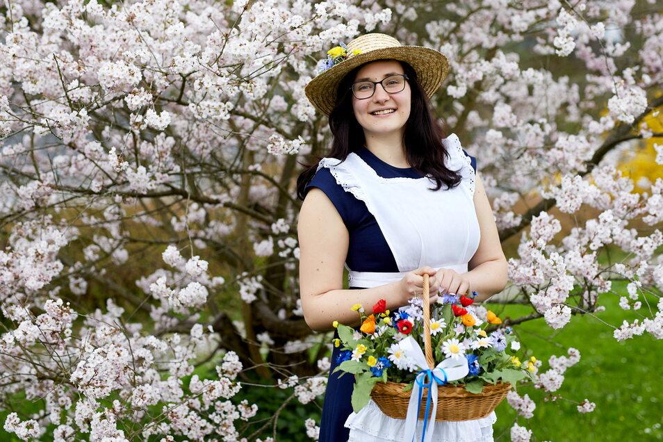 Jasmin Richter aus Lichtenhain ist das 23. Sebnitzer Blumenmädchen.