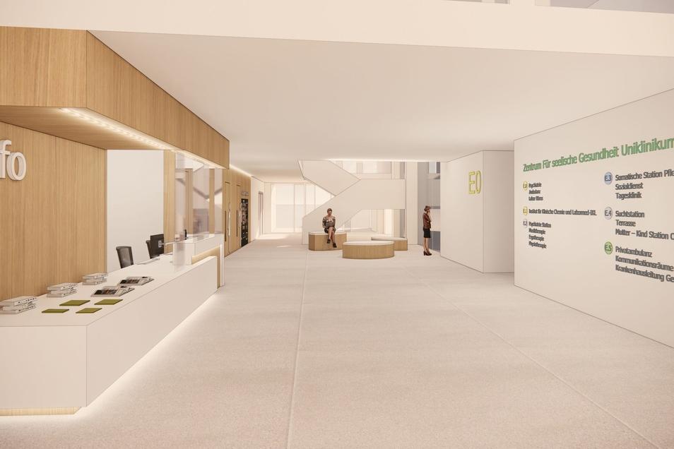 Altersmedizin, Psychiatrie und Labore ziehen in das neue Haus im Dresdner Uniklinikum ein.