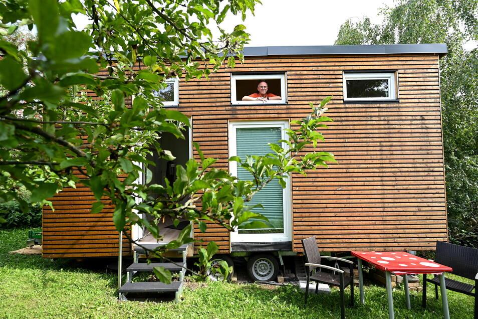 Tiny Houses sind überall in Deutschland gefragt - dieses steht in Hessen.