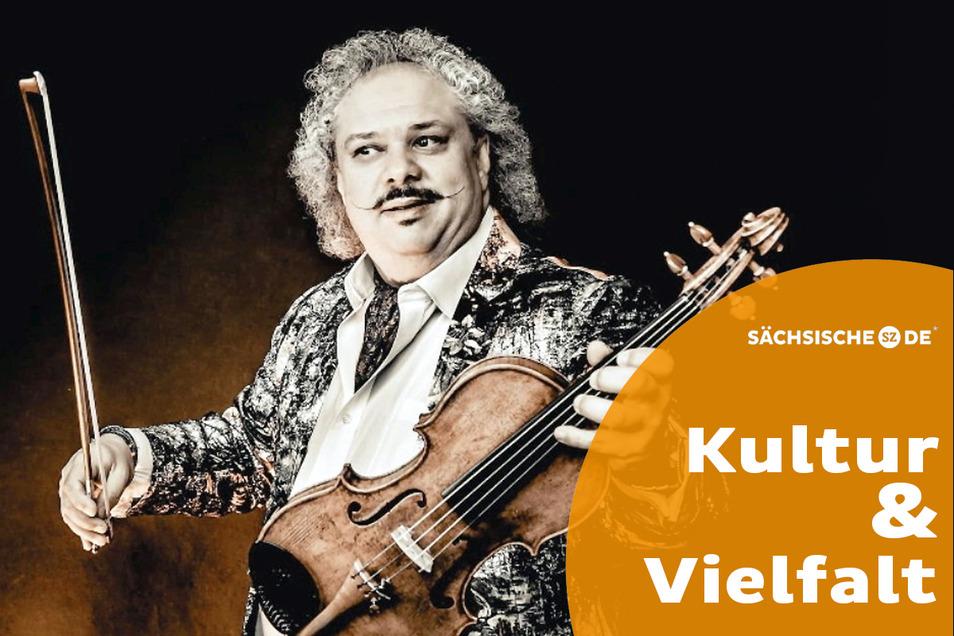 """Roby Lakatos nennt sich selbst den """"König der Zigeunergeiger"""". Kilian Forster lud ihn nun ein, bei seiner Veranstaltung """"Zigeunerjazz & More"""" in Dresden zu spielen. Lakatos hat mit dem Titel kein Problem."""