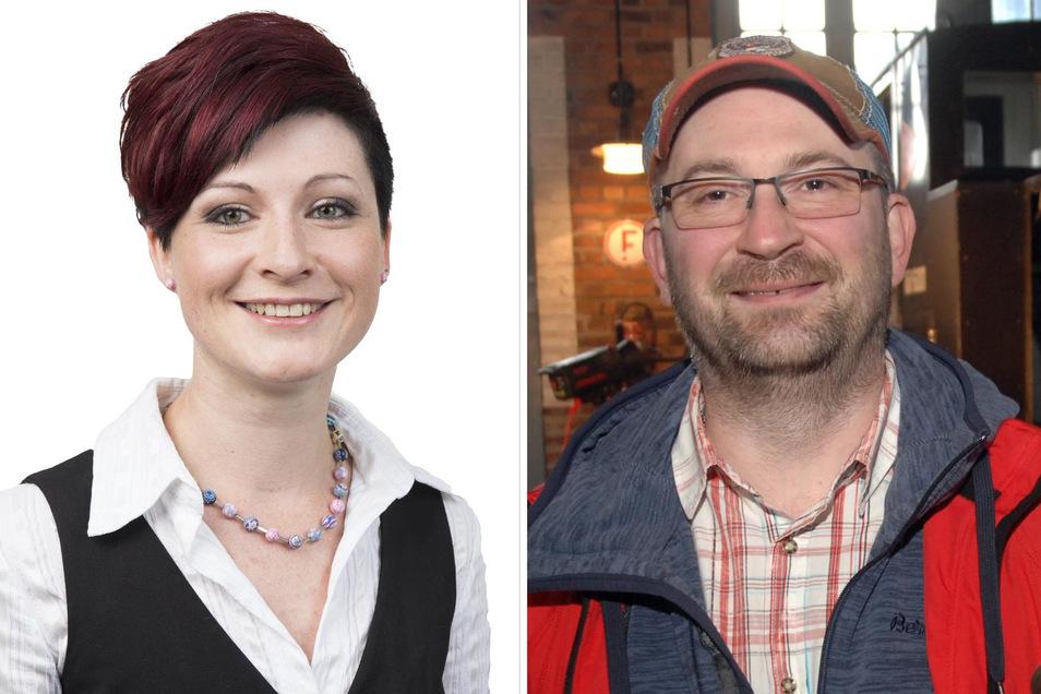 Kati Wenzel und Heiko Firle wollen Bürgermeister in Jonsdorf werden. Wer gewinnt, entscheidet sich am 1. September, gleichzeitig mit der Landtagswahl.