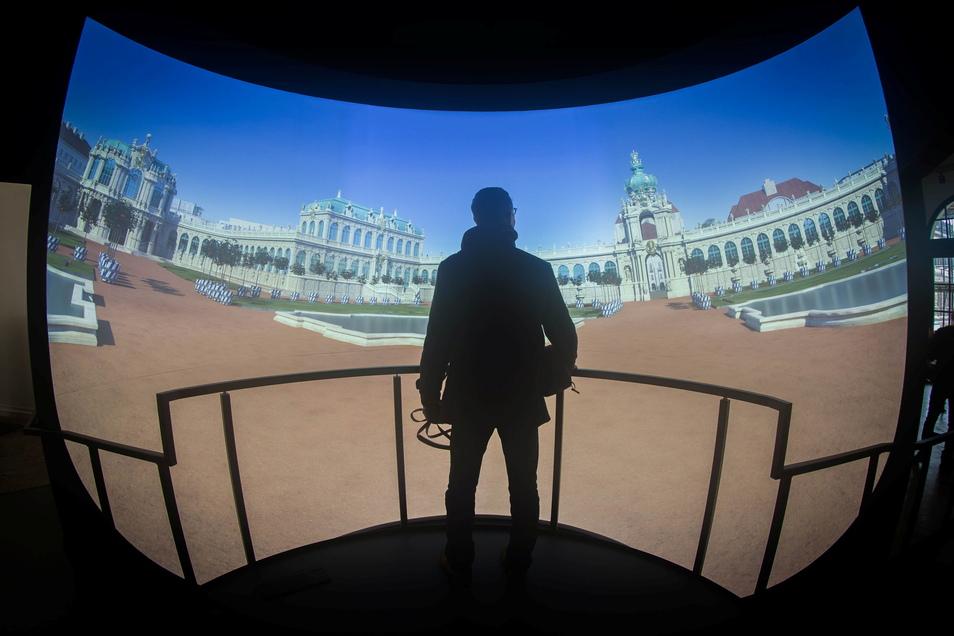 In solchen Rondells erleben Besucher in speziellen Welten viele Aspekte der Zwinger-Geschichte.