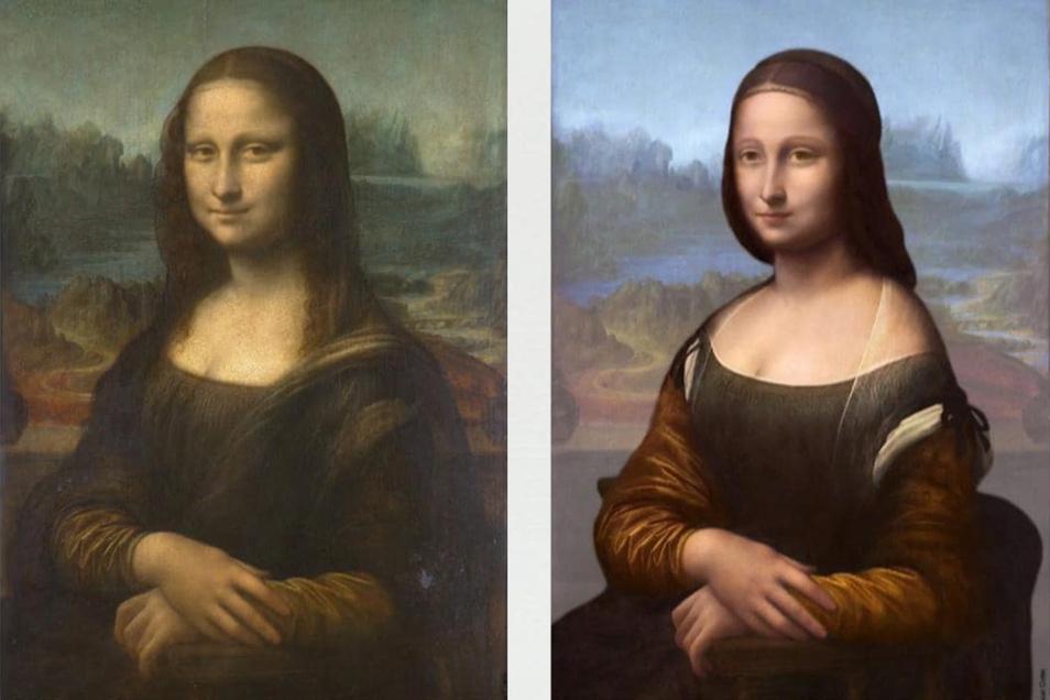 Die Spektralanalyse zeigt, dass unter der Mona Lisa ursprünglich ein anderes Bild steckte.