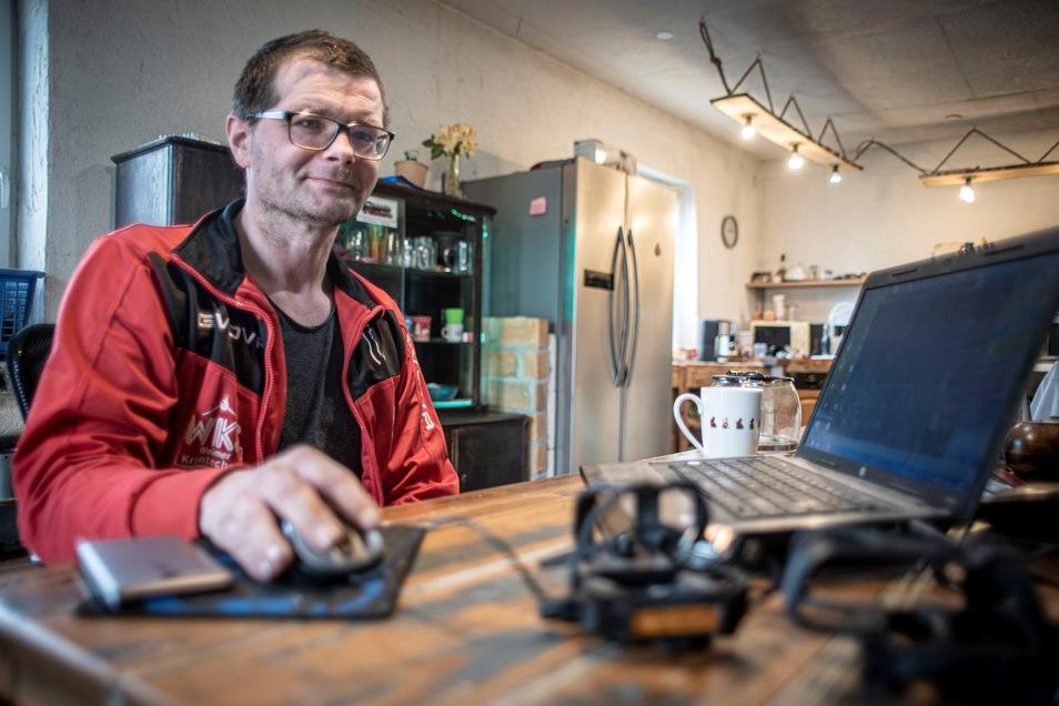 Noch plant Enrico Wenzel, der zwei Schlaganfälle erlitt, seine außergewöhnliche Tour am Rechner. Am 1. Mai soll Abreise in Kamenz sein.