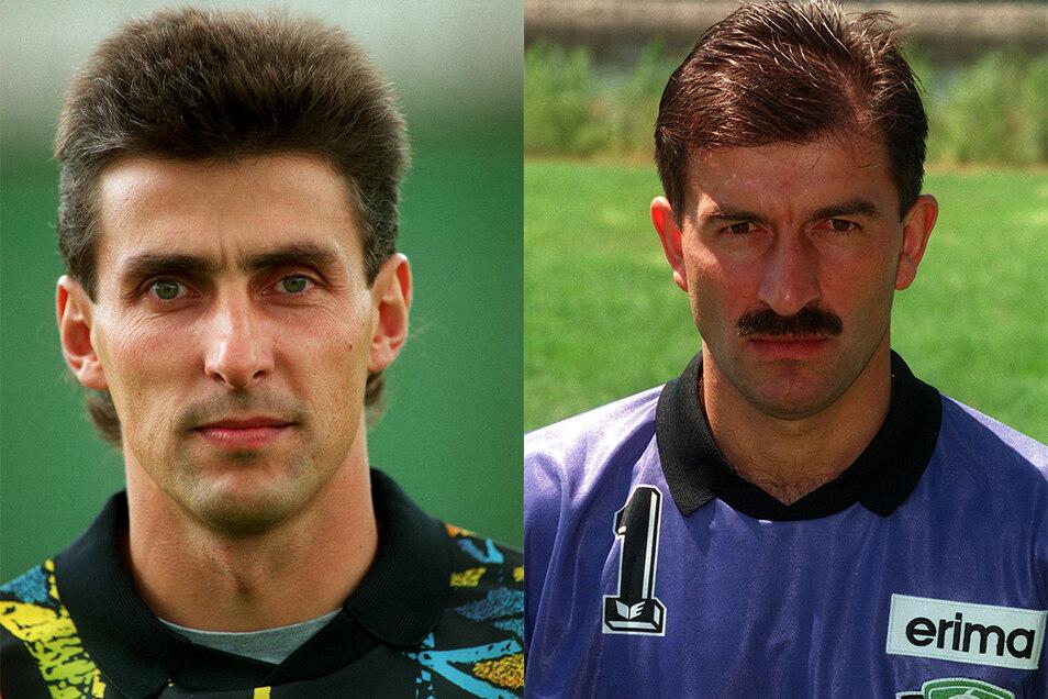 René Müller (l.) und Stanislaw Tschertschessow duellierten sich ab 1993 um den Platz im Dynamo-Tor. Als Konkurrenten sahen sie sich aber nicht.