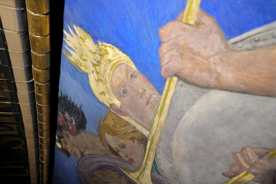 Jetzt, wo das Gerüst in der Johanneskirche steht, lassen sich die einzelnen Tagwerke ganz genau erkennen.