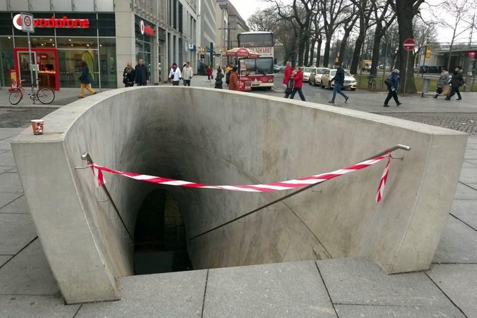 Wann das Kunstwerk wieder zugänglich ist, ist unklar.