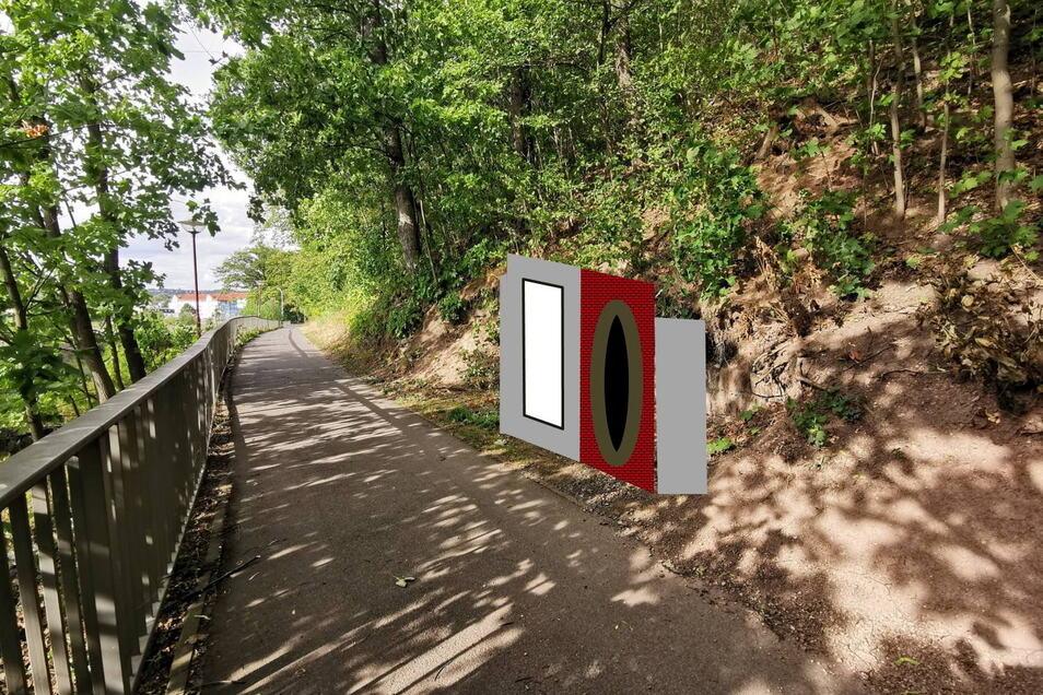So soll das Portal Rösche am ehemaligen Ausgang Augustusschacht aufgebaut werden.
