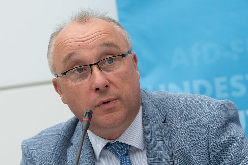 """Der Verfasssungsschutz ordnet Jens Maier dem rechtsextremistischen """"Flügel"""" in der AfD zu."""