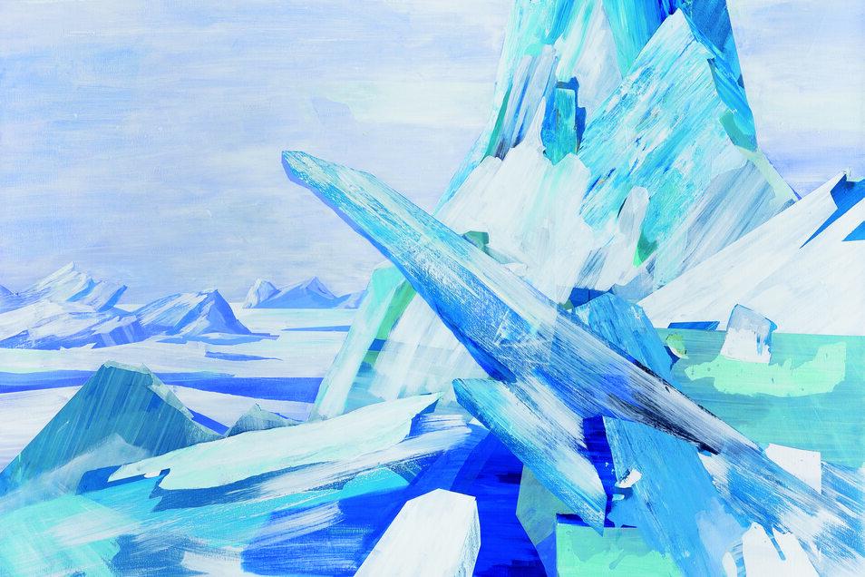 Susanne Wurlitzer: Arctic 9, 2019, Acryl auf Leinwand.