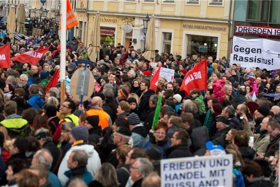 Dresden hat an diesem Tag ein deutliches Zeichen gesetzt.