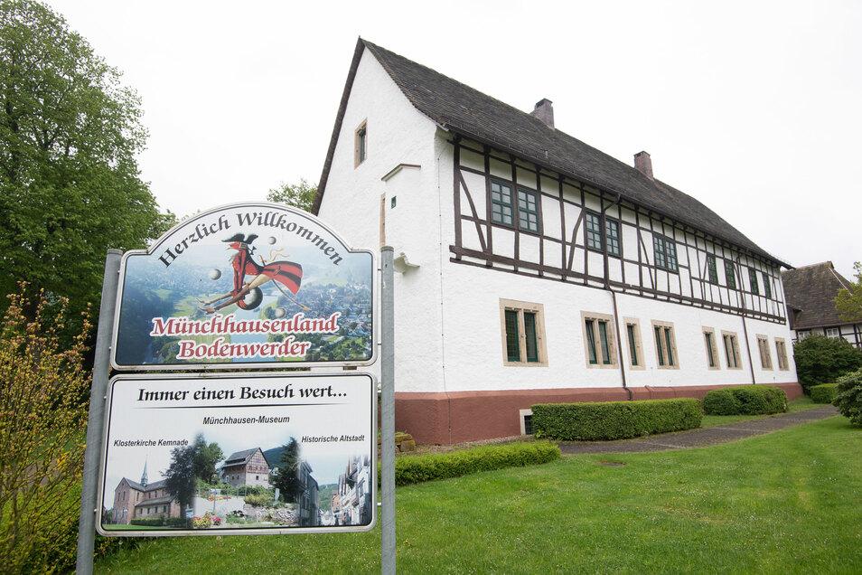 Das Geburtshaus des Barons von Münchhausen in Bodenwerder (Niedersachsen).